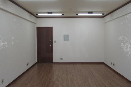 Excelente sala, com aproximadamente 40 m², piso em laminado novo. Um banho social em cerâmica. Sala com entrada para ar condicionado. Sprinkler de incêndio e pintura nova.  Prédio padrão luxo, 100% revestido, portaria 24 horas com sistema de identificação na entrada, cinco elevadores. Uma vaga de garagem.    Atualizado em 24/09/2017.