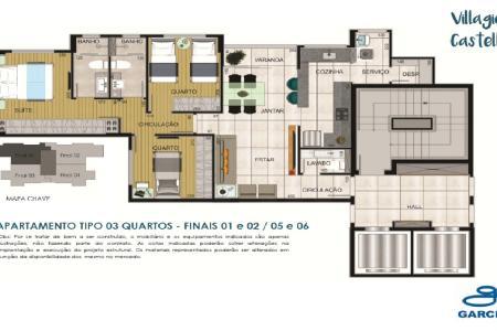 Condomínio localizado na Vila Paris, região Centro-Sul de Belo Horizonte, com 2 torres ambas com 2 elevadores, fácil acesso pela Av. Prudente de Moraes, com toda infraestrutura de comércio, supermercado, escola e lazer  Bloco 1 com 02 quartos e bloco 2 com 3 quartos. Cada torre possui 72 apartamentos, 19 pavimentos sendo 4 por andar  Todos os apartamentos possuem sala, lavabo, cozinha, despensa, área de serviço, além de previsão para sistema de medição de água individual e infraestrutura para instalação de equipamentos de ar-condicionado.  Apartamentos com área privativa de 66,00m² possuem 2 suítes e os de 85,00m² possuem 1 suíte, 02 quartos e varanda. Vagas de garagem distribuídas em 2 ou 3  Lazer: quadra de tênis, quadra poliesportiva, playground, piscina infantil e adulto em raia, sauna. espaços gourmet, salões de festas, lavabos, sala de jogos, espaço kids, sala de massagem e academia