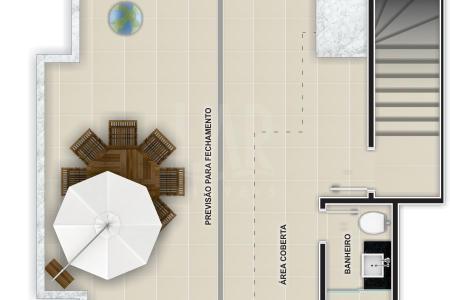 PREVISÃO DE ENTREGA DA OBRA PARA AGOSTO / 2016. PRÉDIO: Frente revestida em cerâmica e pastilha. 4 pavimentos sendo 2 apartamentos por andar. Interfone. Portão eletrônico. 1 vaga de garagem descoberta.  1º Nível: Sala para 2 ambientes com piso em porcelanato. 2 quartos com piso em laminado, sendo 1 suite com bancada em granito.  Banho social com piso em porcelanato e  bancada em granito. Cozinha com piso em porcelanato e bancada em granito. Área de serviço com tanque.                                                 2º Nível: Área com aproximadamente 47,45 m². Banho social.