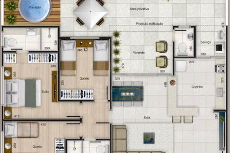 Cód: 13227  Excelente Localização: Fácil Acesso, proximo a supermercado, padaria, sacolão, farmacia, academia e escola.  Prédio: Prédio todo revestido com arquitetura contemporânea, hall social, elevador com acesso a todos os pavimentos, Previsão para ar condicionado. Jardim e um ótimo espaço gourmet. Gás canalizado e água com medidor individual, 02 vagas de garagem cobertas e demarcadas.  Apartamento: 1° nível - Sala para dois ambientes com piso em porcelanato, 04 quartos com piso em laminado, banho social e suíte com bancada em granito e piso em porcelanato. 2° nível - Elevador com acesso aos dois pavimentos da cobertura. Amplo terraço com previsão para piscina de até 6.00 litros com lavabo. Espaço gourmet. Cozinha com bancada em L com bancada em granito e piso em porcelanato. Sala para 02 ambientes com piso em porcelanato. Área de serviço. Aquecimento solar.