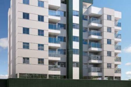 PRONTO PARA MORAR Prédio: Fachada revestida em cerâmica, 07 pavimentos, 4 por andar e 2 vagas de garagem em linha. Apartamento: 1 sala, 2 quartos, cozinha, sendo 67,20m² interno e 44,80m² externo.