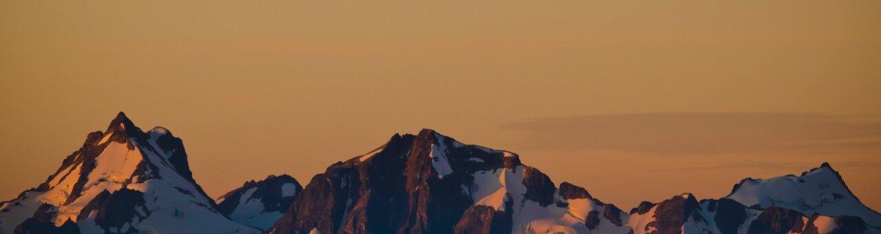 Sunshine on the mountains