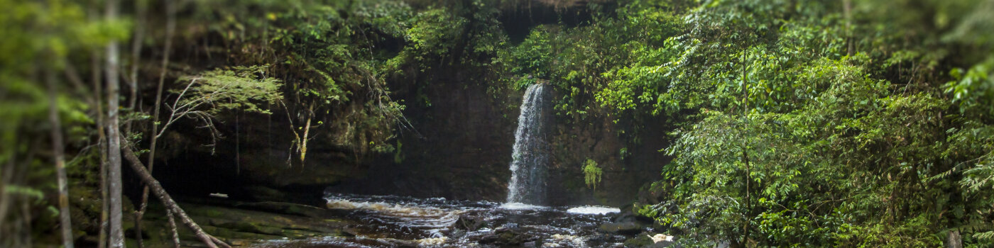 Waterfalls and river