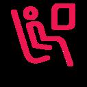 ícone do assento do avião
