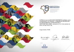 CERTIFICADO DRA. LILIAN KANDA - Bradoo 2019