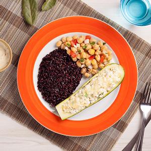 Foto De Mini Omelete + Panqueca De Ricota + Brócolis No Vapor Congelado