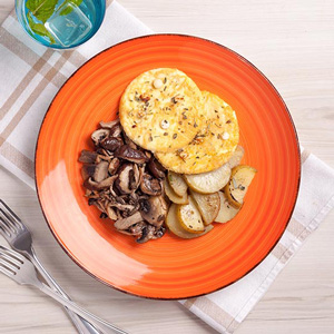 Foto De Mini Omelete + Batata Com Alecrim + Mix De Cogumelos Congelado