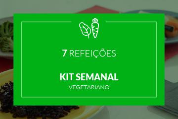 Vegetariano - Kit Semanal - 7 Refeições