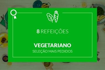Mais Pedidos: Vegetariano - 8 refeições