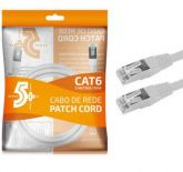 COD 0181090 - Cabo Patch Cord Cat6 Ftp Branco 2m