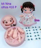 Boneca Kit  Nina 10cm + olhos resinados 410 P