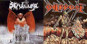 LP 12 - Sepultura/Overdose - Bestial Devastation/Século XX (Split-Vinil Preto)
