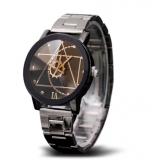 b1256e1d371 Gear Geometric Relógio Quartz com Pulseira de Aço