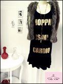 Vestido Preto / Dourado Alcinha Shopping Is My Cardio