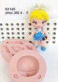 Boneca Kit Kell - +- 10/12cm  olhos resinados 380A  P