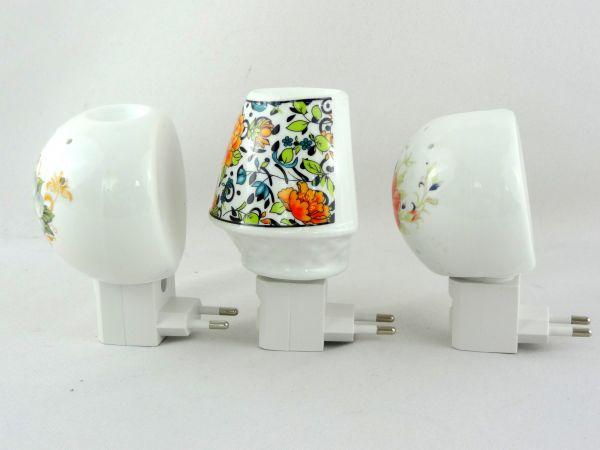 Kit 3 Mini Luminárias de Tomada de Cerâmica Difusores Aromatizadores - 110 V