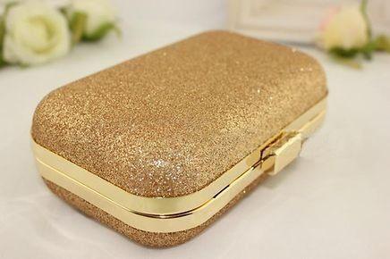 6846e90ea Clutch Glitter Dourada - Sofistique C!