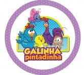 Papel Arroz Galinha Pintadinha Redondo 008 1un