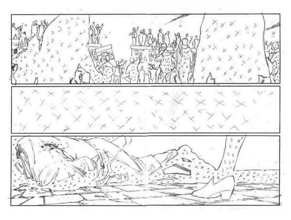 Página HQ Atômica (dupla) página 006-007 - Original