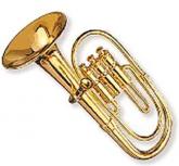 Tuba Miniatura Instrumento Orquestra Metal 9cm