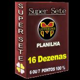 SUPER SETE COM 16 DEZENAS por menos da METADE DO PREÇO