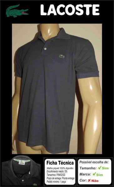 Camisetas gola polo lacoste R  35 182e122016f6d