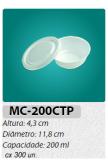 MC-200-CTP EMBALAGEM REDONDA C/ TAMPA 200 ML C/300 UN.