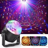 Mini Rgb Bola Maluca Led Party Color Disco Club Balada Dj