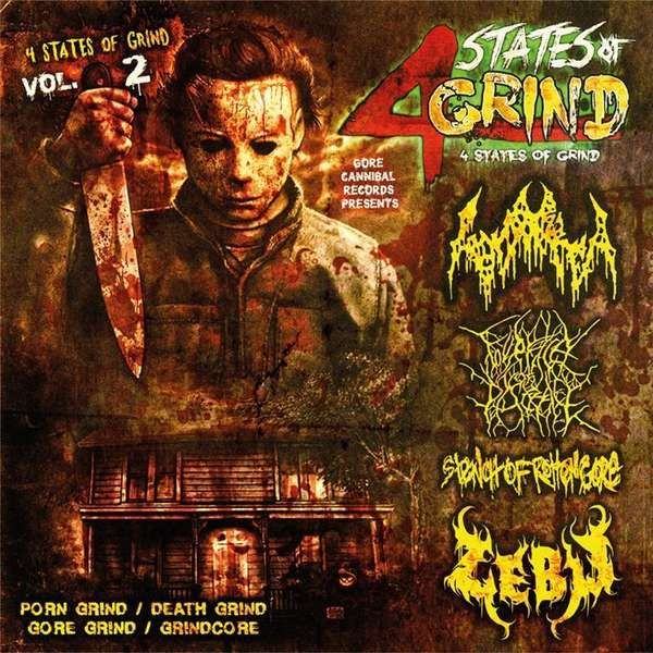 4 States Of Grind Vol 2 – gonorrea/four face of disgrace/stench of rotten gore/zebu – 4 way cd