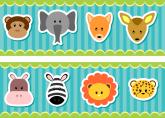 Faixa Adesiva Baby Safari Face - 003