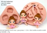 Mini bailarinas com 03 rostos