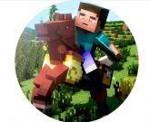 Papel Arroz Minecraft Redondo 006 1un