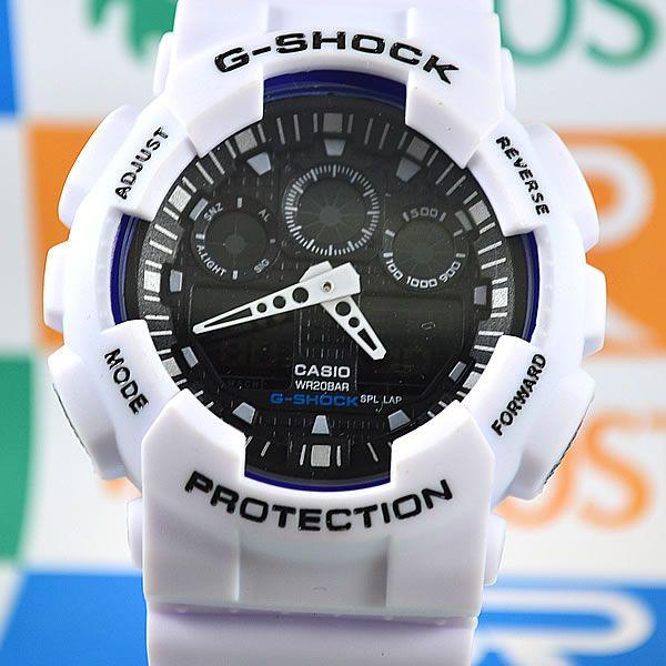 d1a95ce437f Relógio Casio G-Shock GA-100 Automático Branco Masculino à prova D´água
