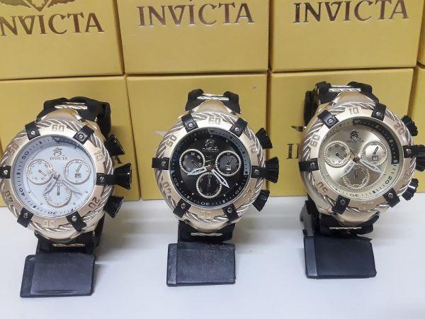 b935763cf77 Kit C 3 Relógios Invicta Bolt Thunderbolt Zeus Pulseira De Borracha ...