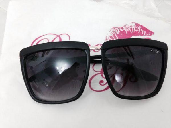Óculos Gucci quadrado preto fosco - Prime Gifs 4ec546cf62