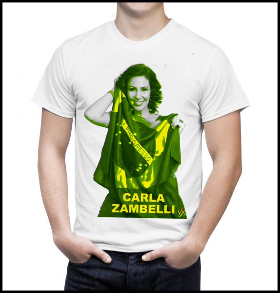 Camiseta Autografada por Carla Zambelli - Branca