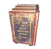 3 Livros Falsos - Caixa Decorativa