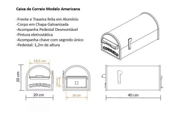 Caixa de Correio modelo Americano