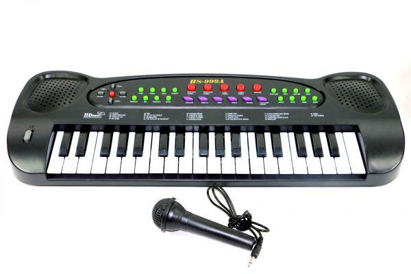 Teclado Musical à Pilha com Microfone - HS-999