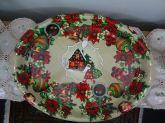 Bandeja Plástica Natalina Oval Rasa Casa Grande 3x36x47 cm