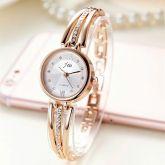 Nova Moda Strass Relógios Das Mulheres Pulseira de Aço Inoxidável Marca de Luxo relógios de Quartzo