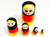 Matrioska Russa Rústica Alemanha Edição Paises do Mundo 12Cm