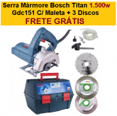Serra Mármore Bosch Titan 1.500w Gdc151 C/ Maleta + 3 Discos + FRETE GRÁTIS