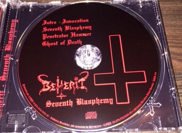 BEHERIT - SEVENTH BLASPHEMY - CD (DEMO)