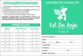 Carteira de Vacinação de Pet Shops (tamanho 21X15 aberta, e fechada fica 10X15cm)