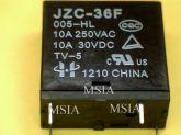 RELE JZC-36F - BOBINA 5VDC / 10A