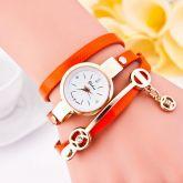 O mance Couro Novo Estilo de Moda Casual Pulseira Relógio de Pulso Mulheres Se Vestem Relógios