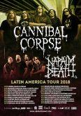 Cartaz Turnê - Napalm Death / Cannibal Corpse (Enrolado)