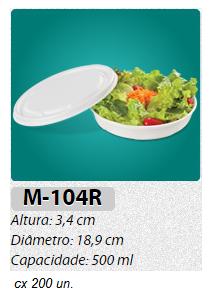 M-104R MARMITEX REDONDO RASO 500 ML C/ 200 UN.