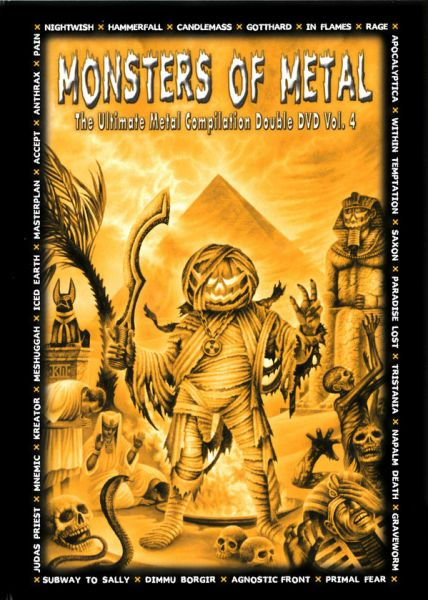 "Monsters Of Metal - ""The Ultimate Metal Compilation Vol. 4"" DVD Duplo Importado!!!"